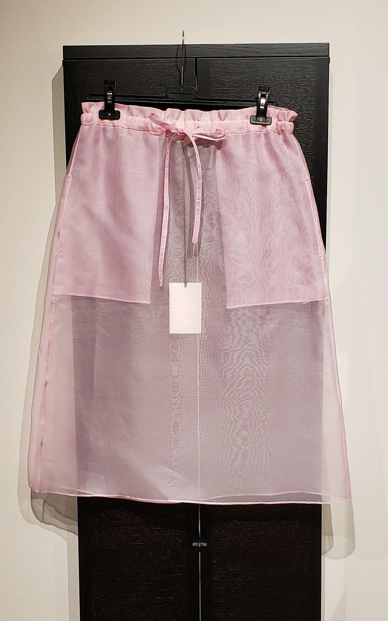 Silk Organza Skirt- Pink - Sz 3-1
