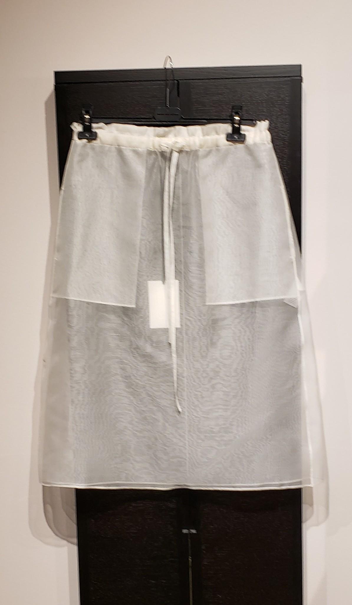 Silk Organza Skirt- Ivory- Sz 2-1