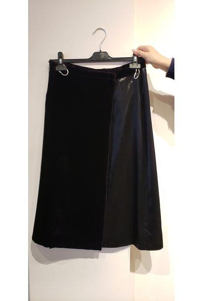 Velvet Skirt - w/silk panel - Sz 44