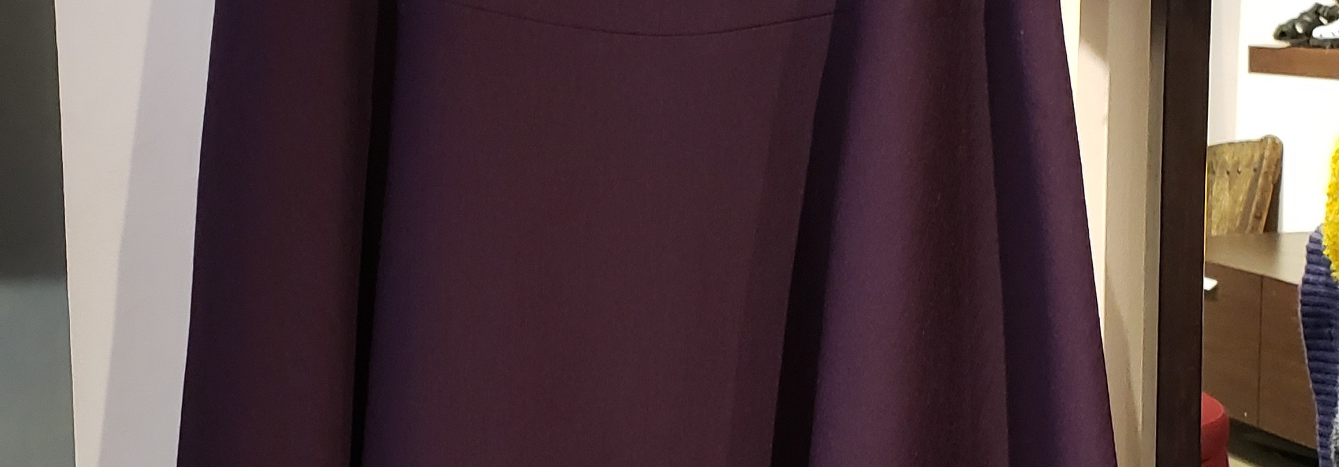 Wool panelled skirt - Sz 42