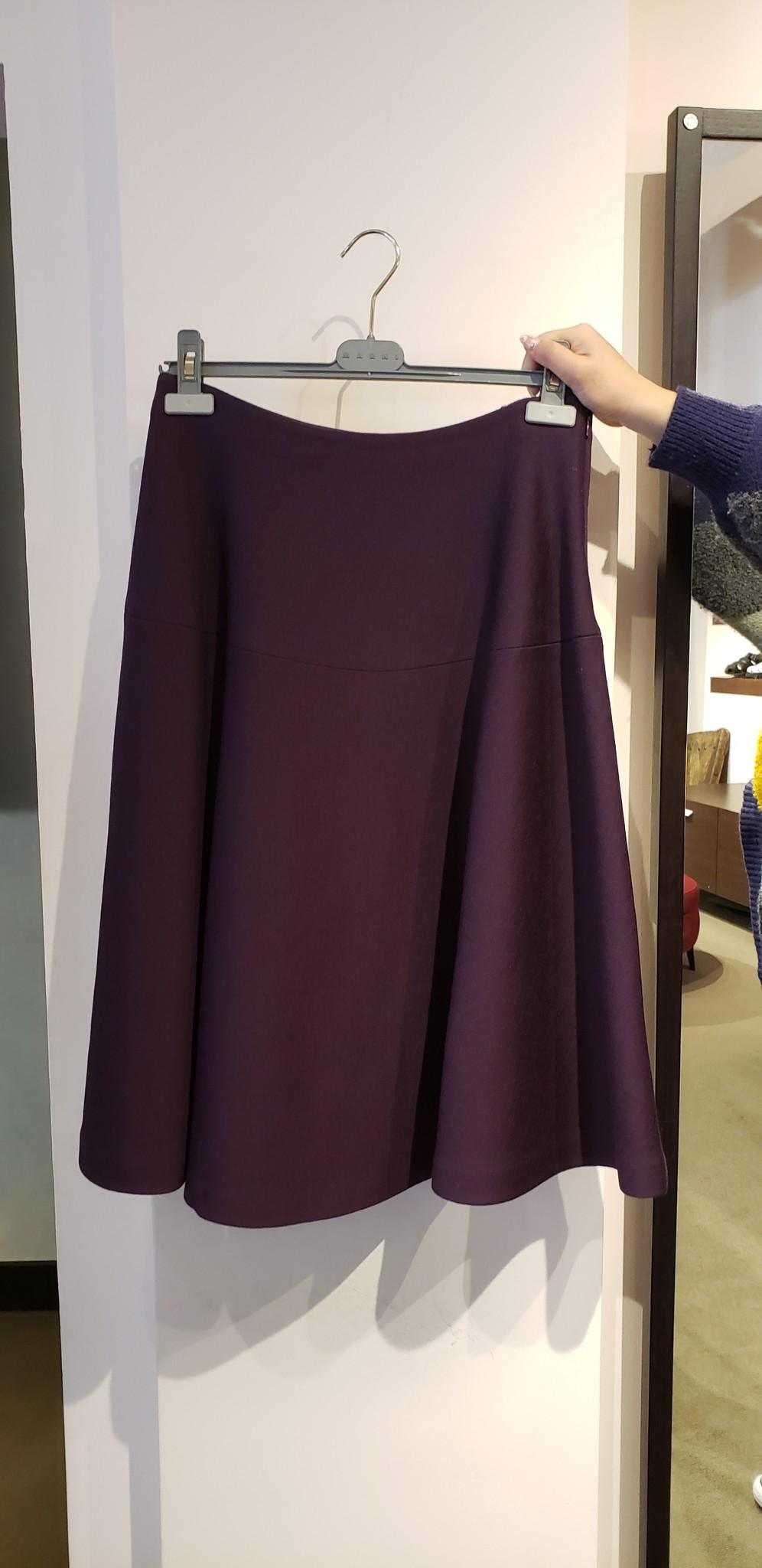 Wool panelled skirt - Sz 42-1