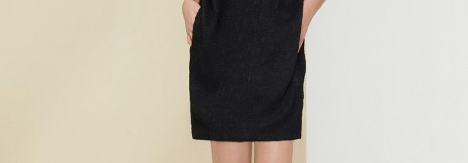 One Shoulder Dress - Blk - Sz 38