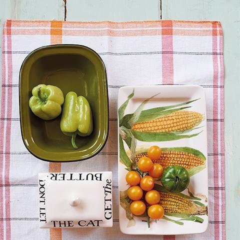 Veg. Garden - Oblong Plate - Med.-2