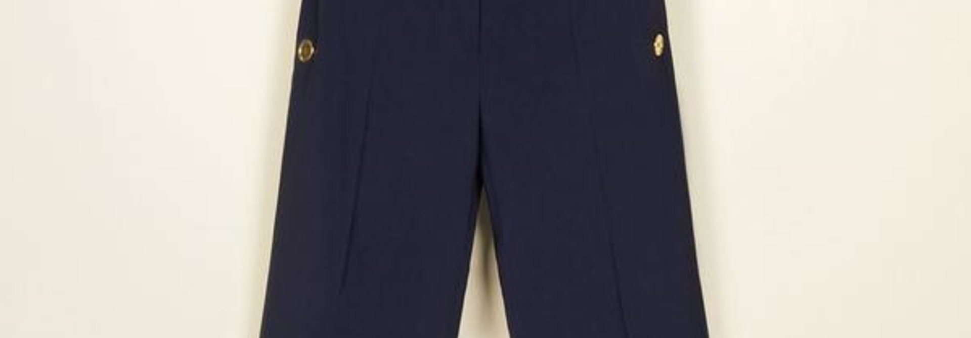 Summer Wool Sailor Trousers - Navy - Sz. 38
