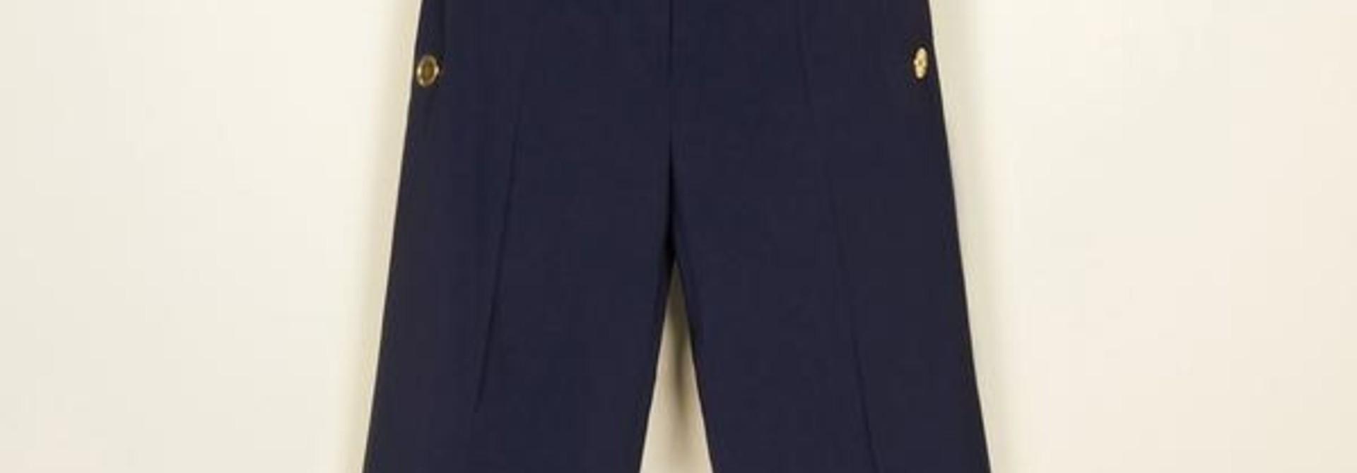 Summer Wool Sailor Trousers - Navy - Sz. 36