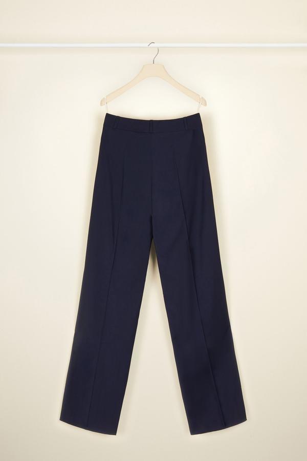 Summer Wool Sailor Trousers - Navy - Sz. 36-2