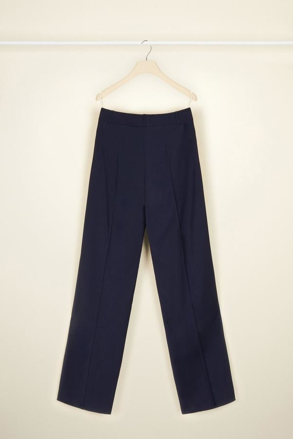 Summer Wool Sailor Trousers - Navy - Sz. 38-2