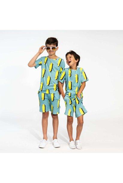 T-shirt + Short Set - Skater - Sz.  11/12