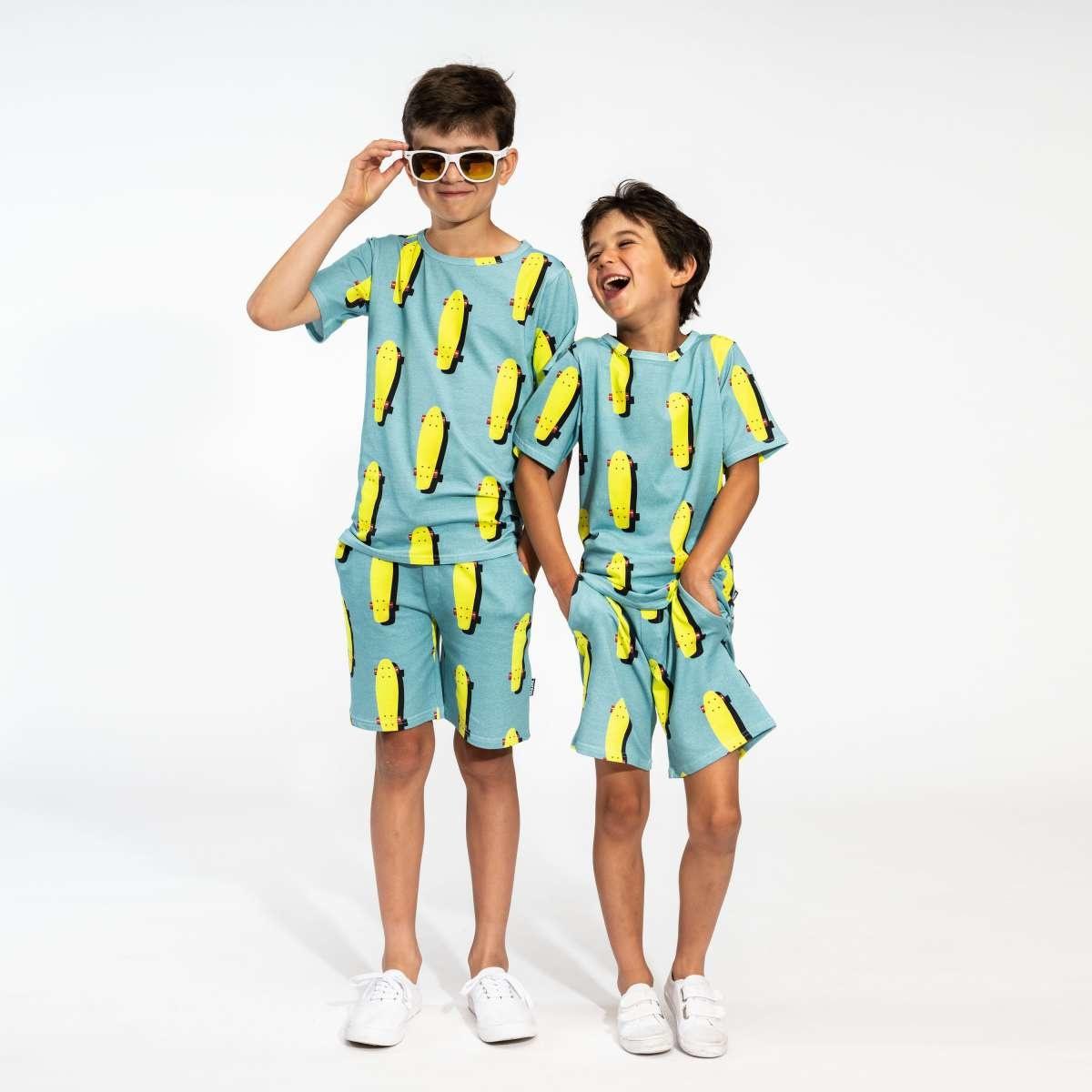 T-shirt + Short Set - Skater - Sz.  11/12-1