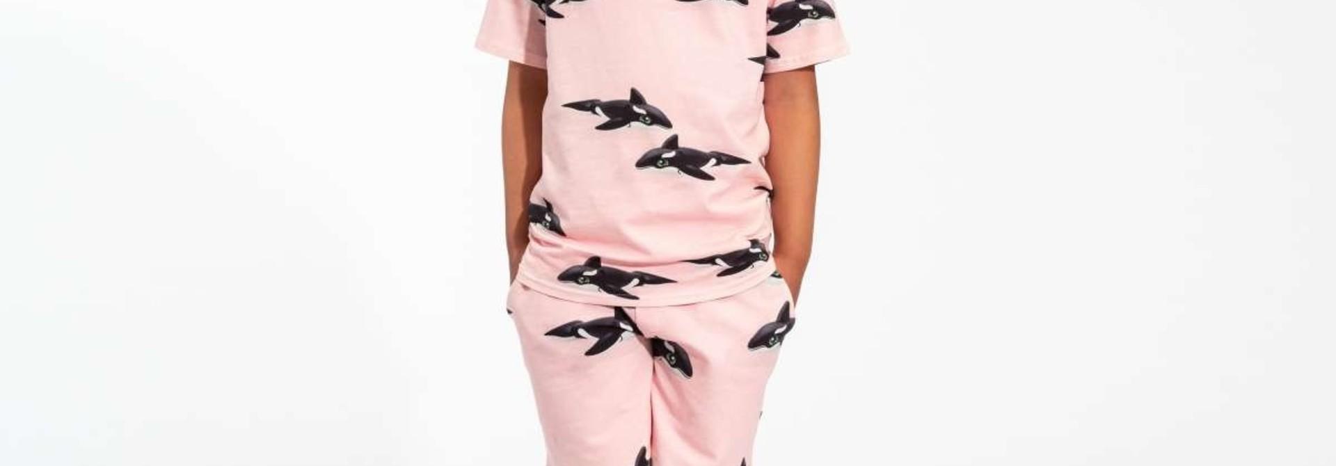 T-shirt + Short Set - Pink - Sz.  11/12