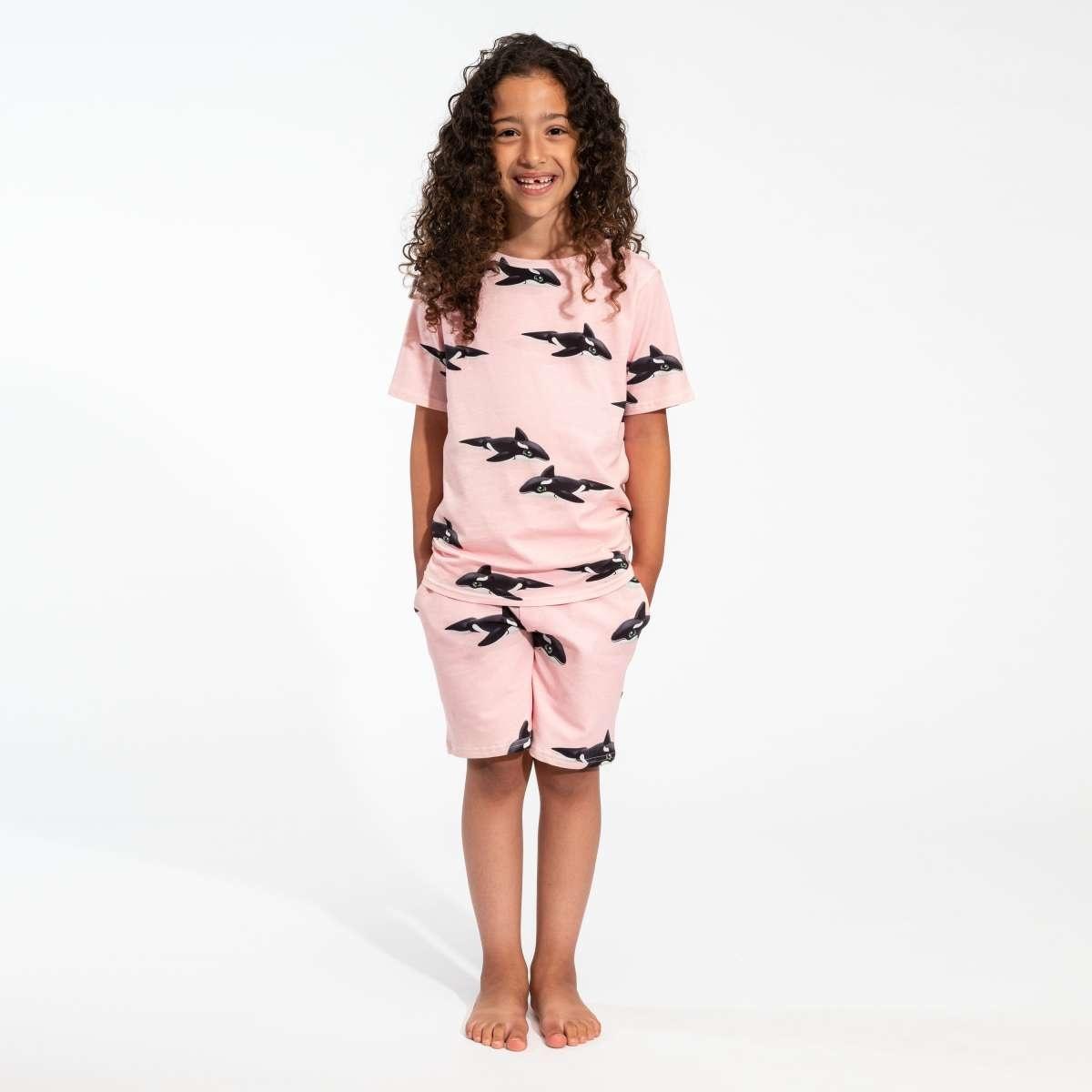 T-shirt + Short Set - Pink - Sz.  11/12-1