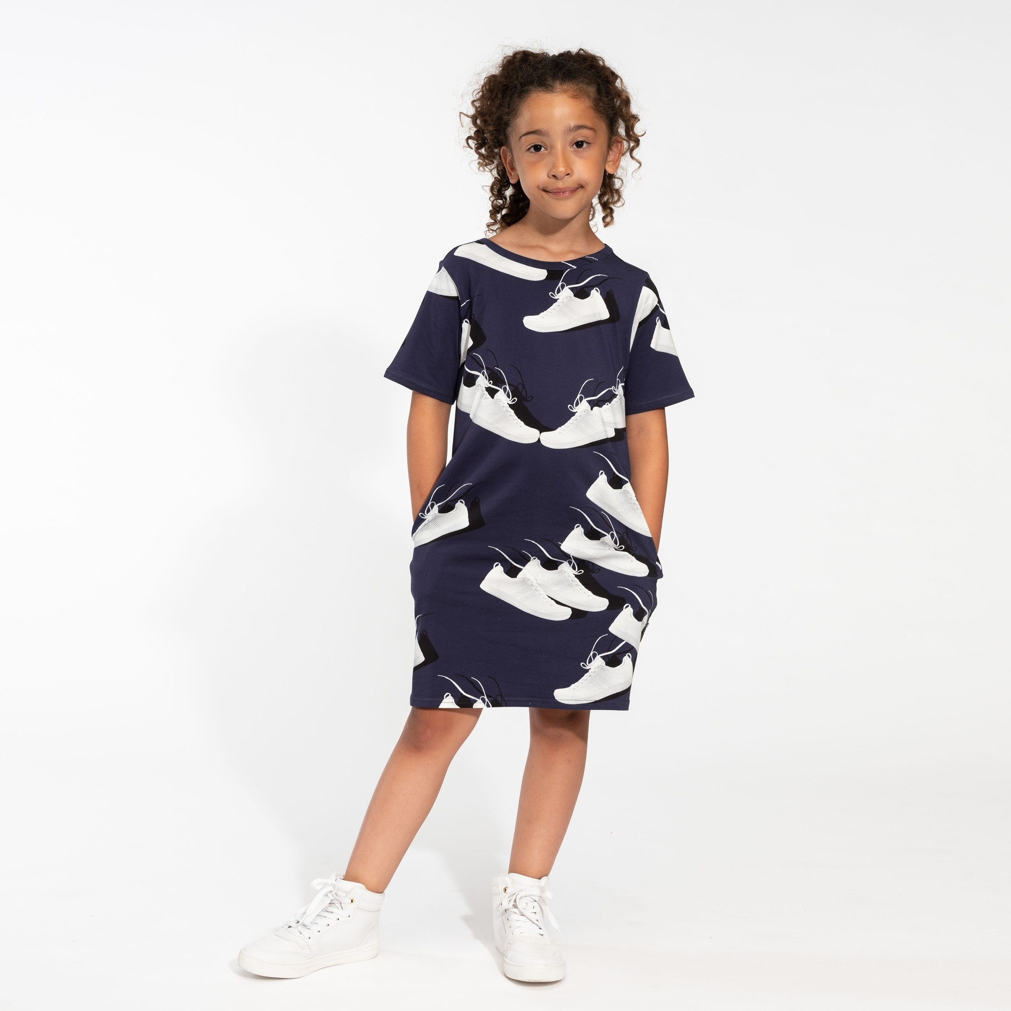T- Shirt Dress - Sneaker - Sz 11/12 yrs-1