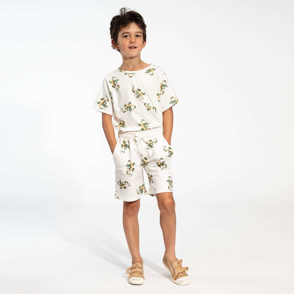 T-shirt + Short Set - Dragons - Sz.  9/10 yrs.-1