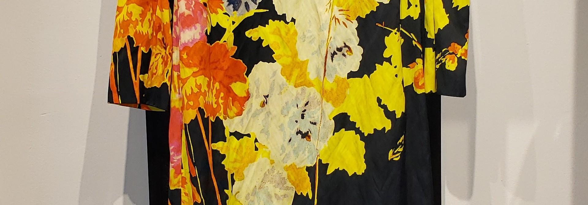 Dress - Blk Flower Print - Sz 40