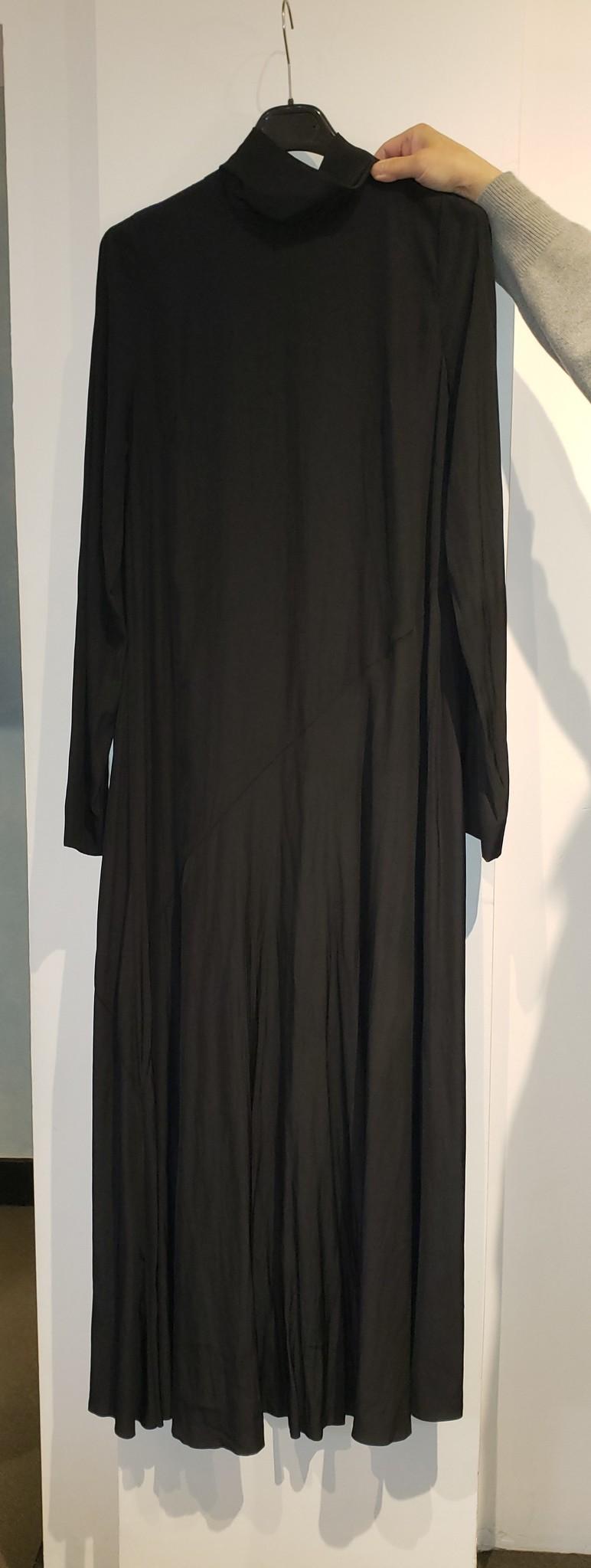 Dress Full length - Blk - Sz. 38-1