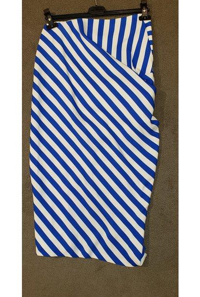 Skirt - Blu Stripe - Sz 38