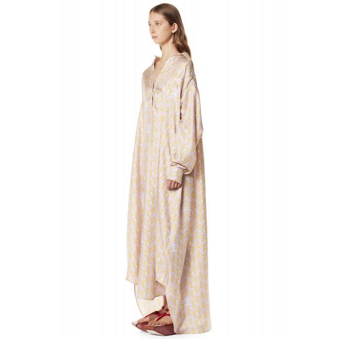 Print Long Wrap Dress - Sz. 38-2