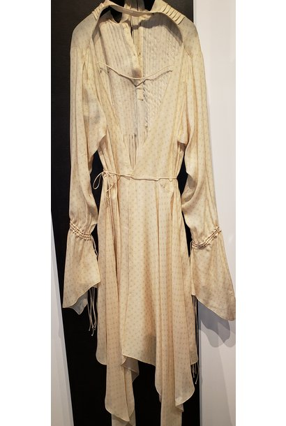 Print Long Wrap Dress - Sz. 38