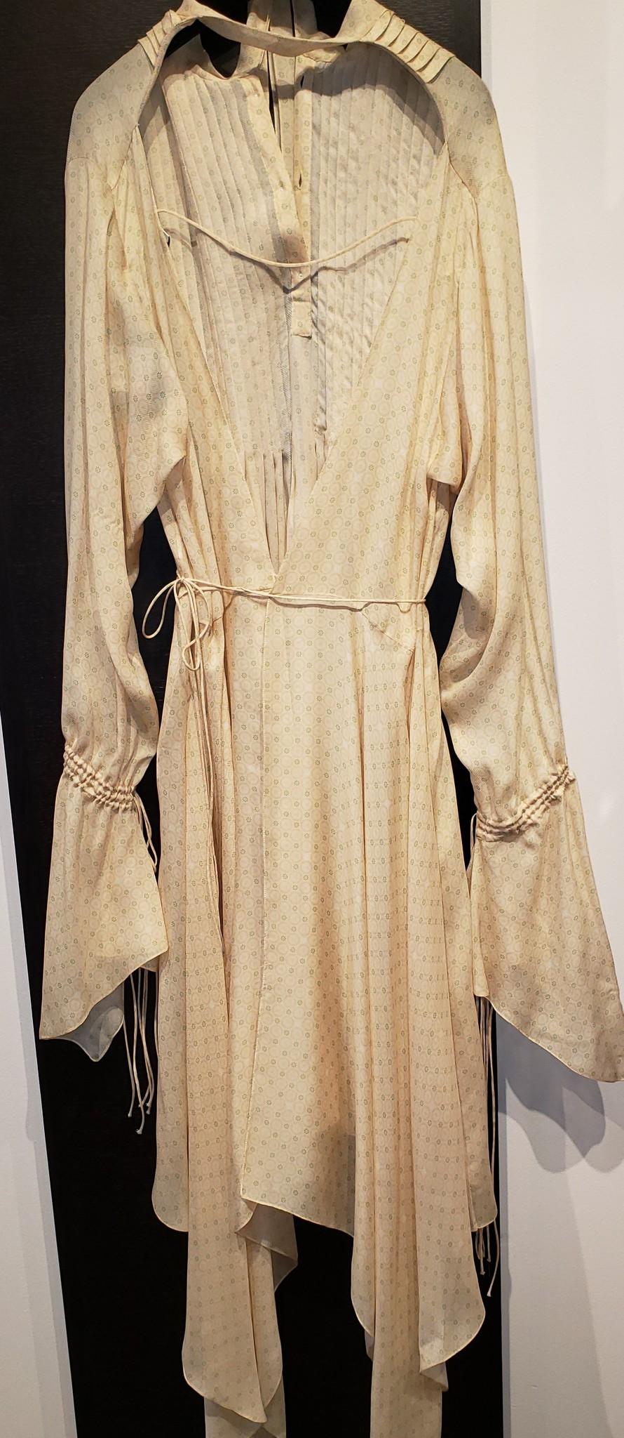 Print Long Wrap Dress - Sz. 38-1