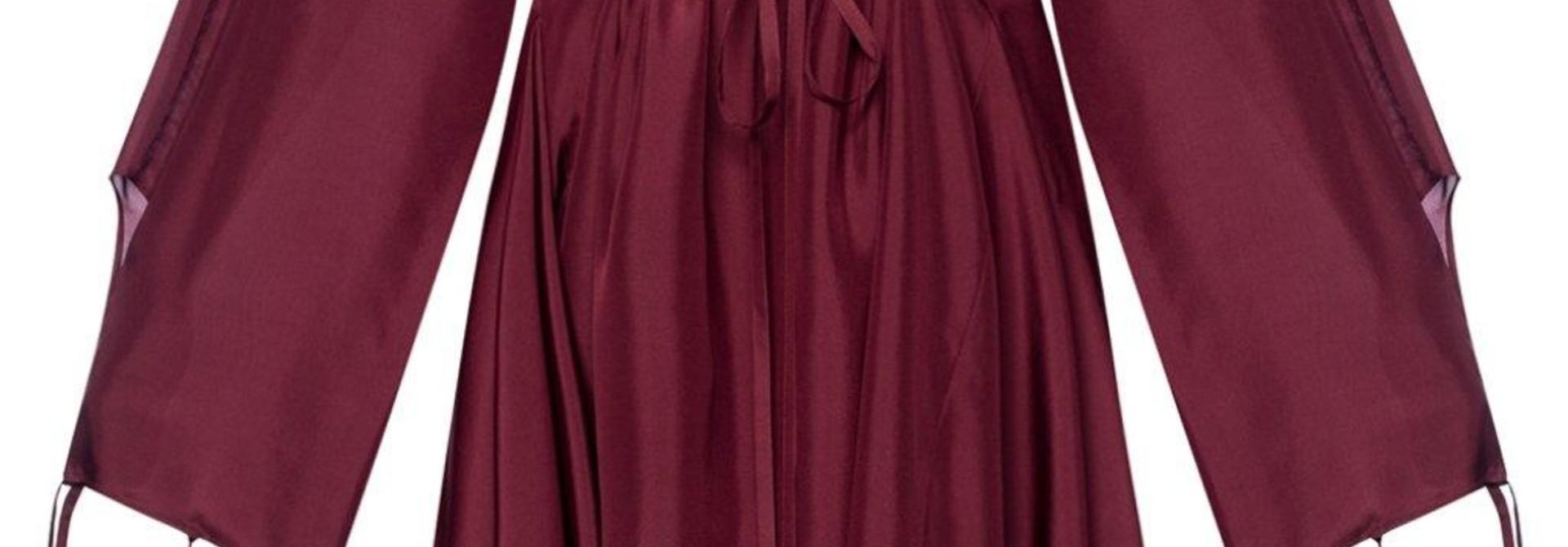 Silk Dress  - Burgundy - Sz 38