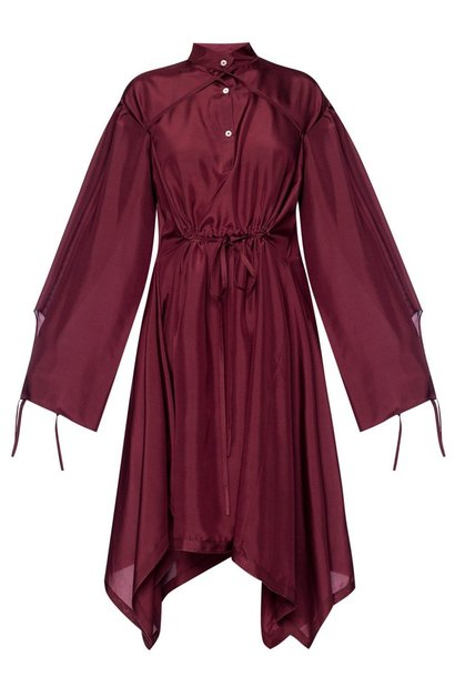Silk Dress  - Burgundy - Sz 38
