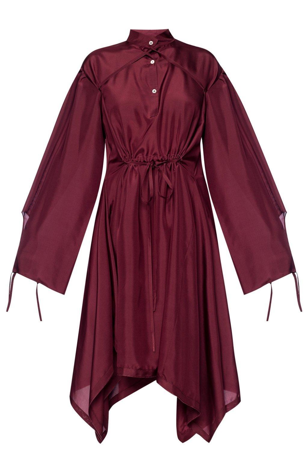 Silk Dress  - Burgundy - Sz 38-1