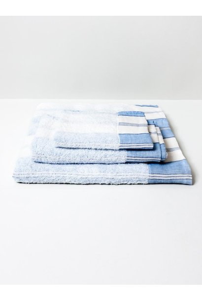 Blu stripe Bath towel+hand towel - Lola -set of 4