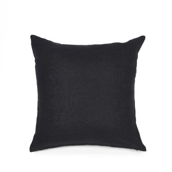 Cushion Cover - Hudson - Black - Lge-1