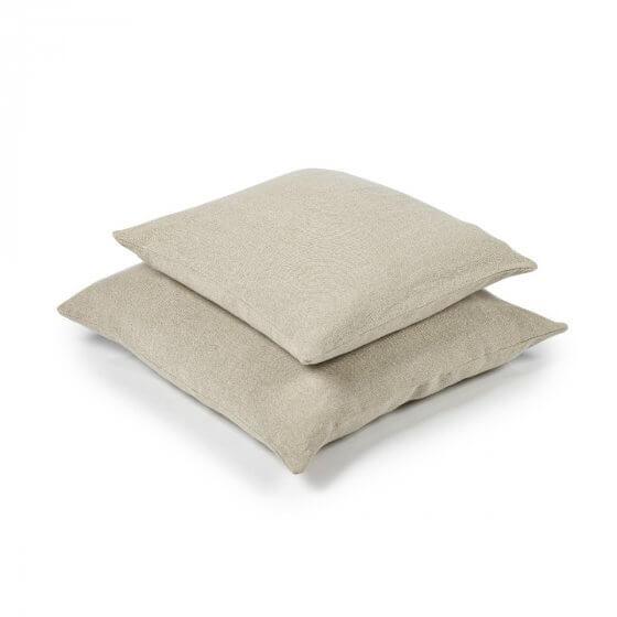 Cushion Cover - Hudson -Lge -  Flax-2