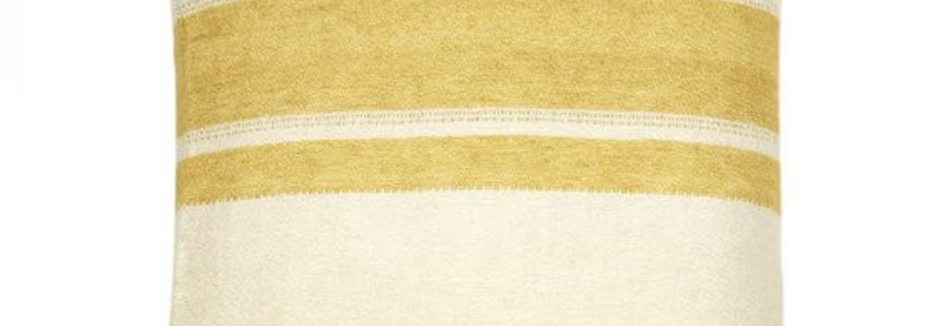 Cushion Cover - Belgian - Mustard Stripe