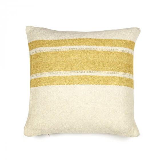 Cushion Cover - Belgian - Mustard Stripe-1
