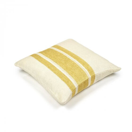 Cushion Cover - Belgian - Mustard Stripe-2