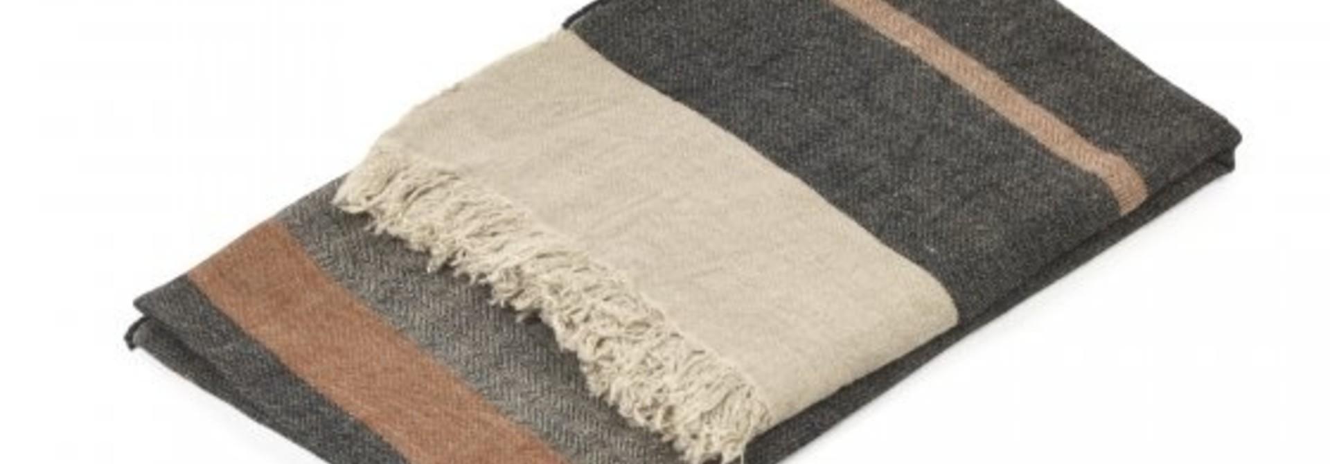 Bath Towel Fouta - Black Stripe