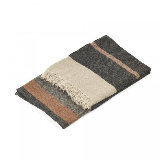 Bath Towel Fouta - Black Stripe-1