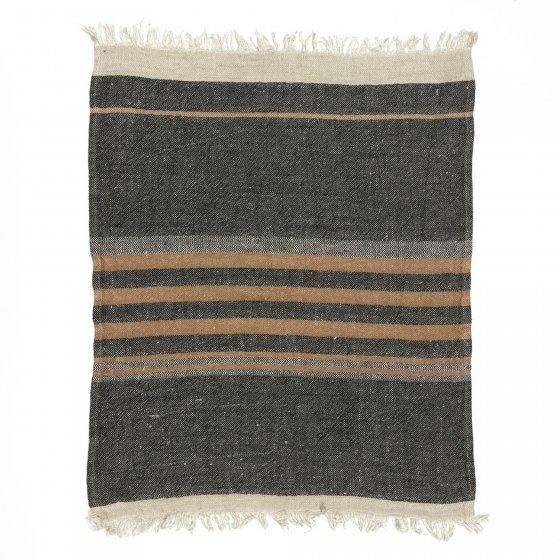 Bath Towel Fouta - Black Stripe-2