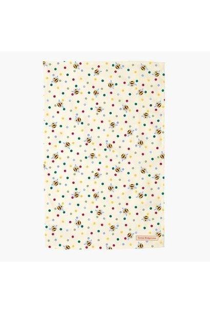 Tea Towel - Bumble Bee & Small Polka Dot