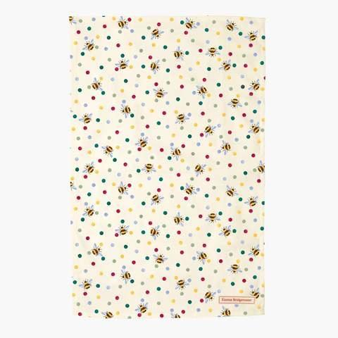 Tea Towel - Bumble Bee & Small Polka Dot-1