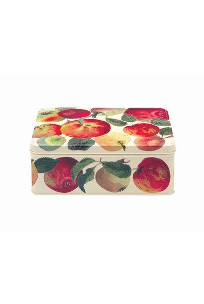 Rectangular Tin - Apples