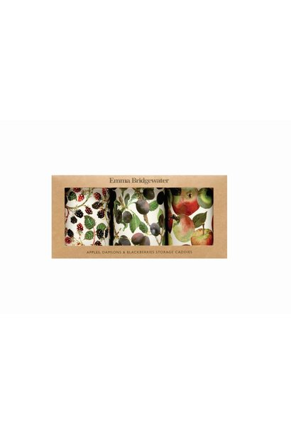 Round Tin Caddies Boxed - Fruit