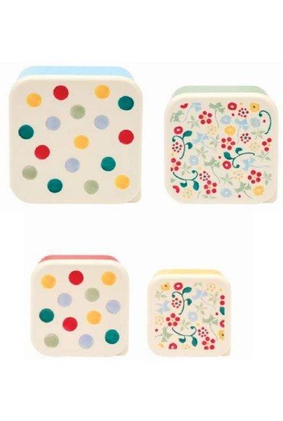 4 Pc Snack Tub - Polka Dot