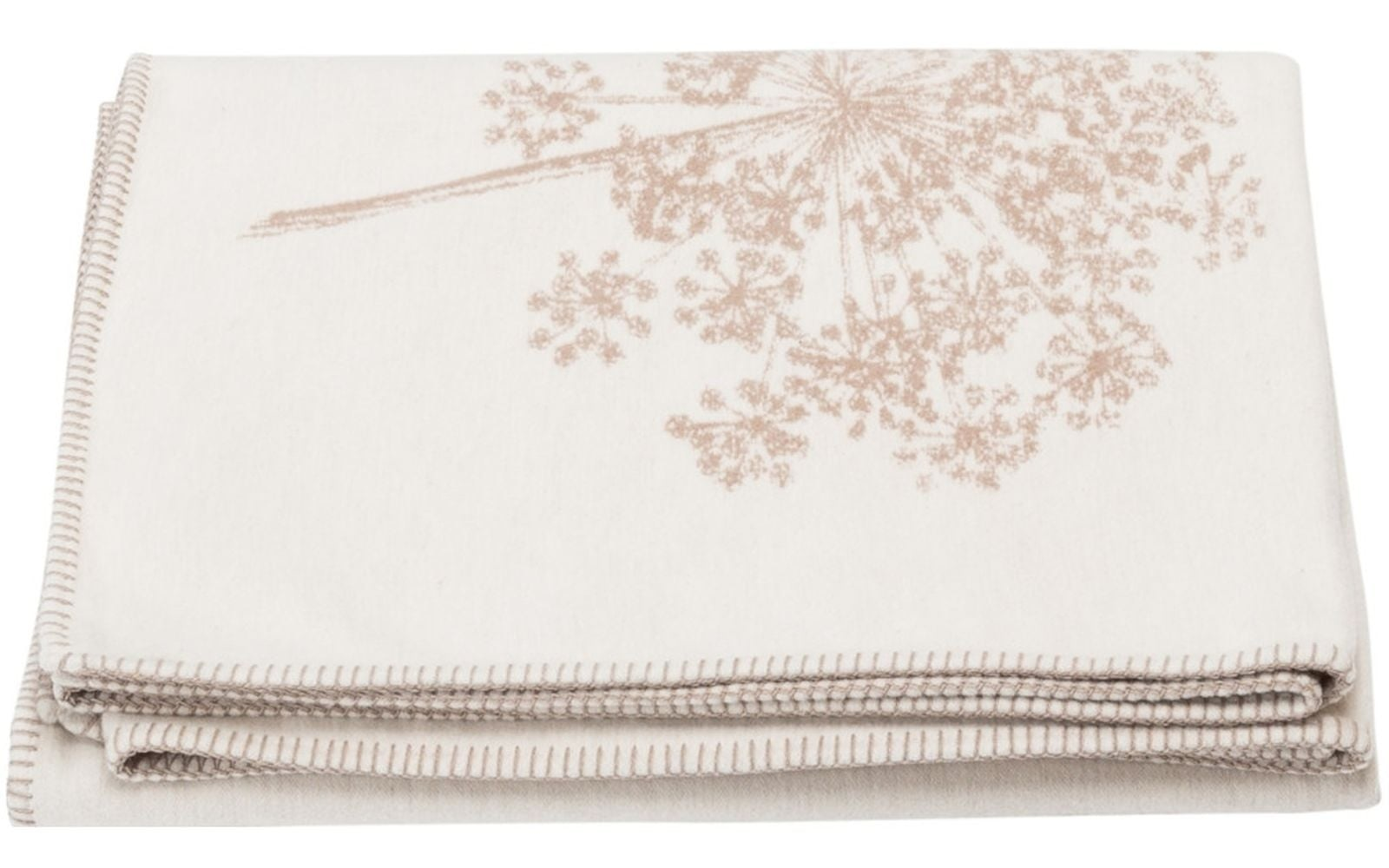 Cotton Throw - Floral - Ecru-1
