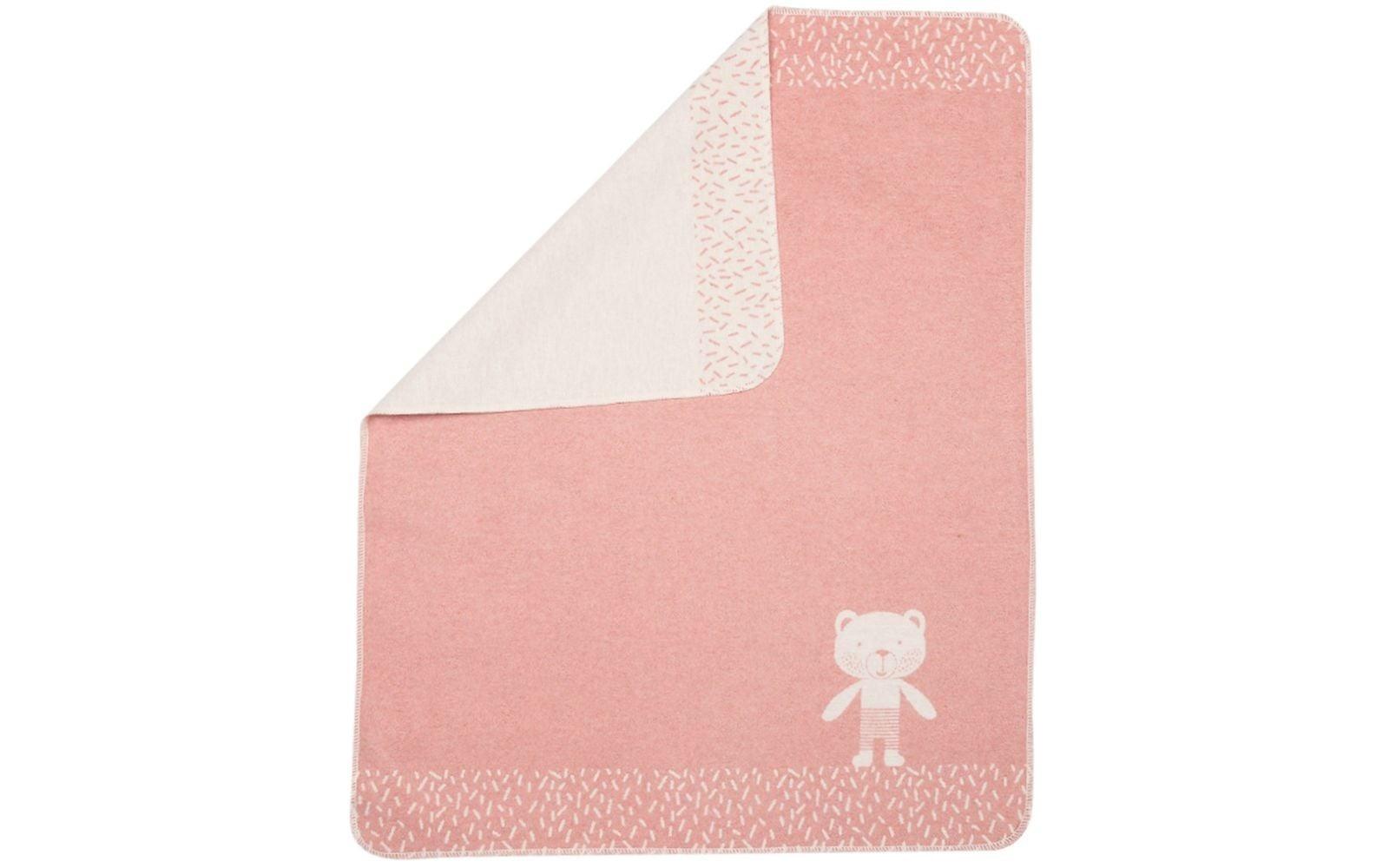 Baby Blanket - Bear in Corner - Rose-1