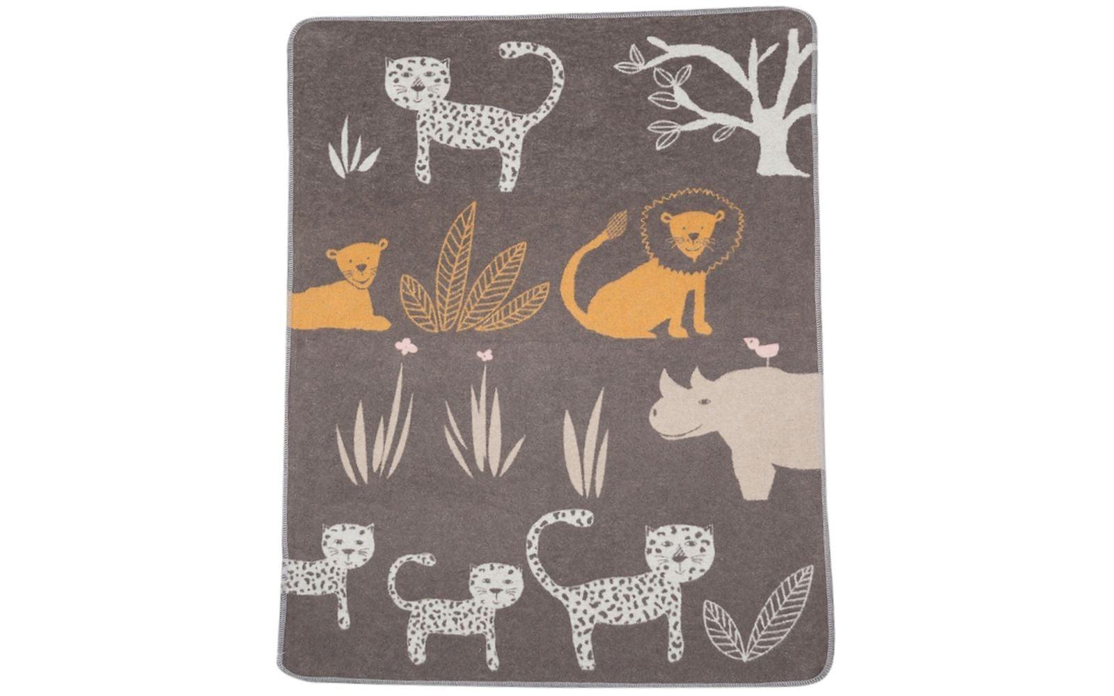 Baby Blanket - Jungle - Brown-1