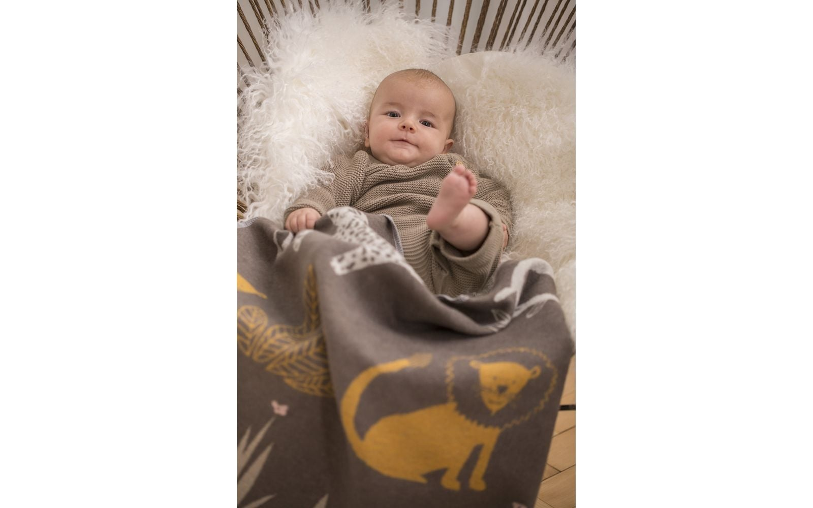 Baby Blanket - Jungle - Brown-2
