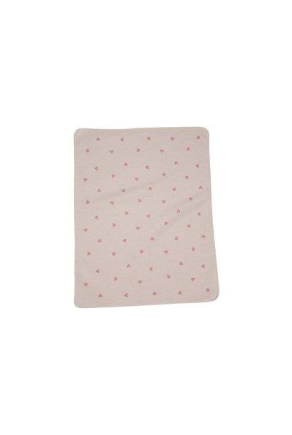 Baby Blanket - Hearts - Pink