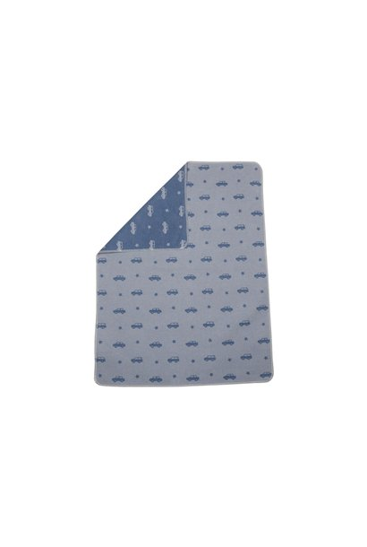 Baby Blanket - Cars All Over -Blue
