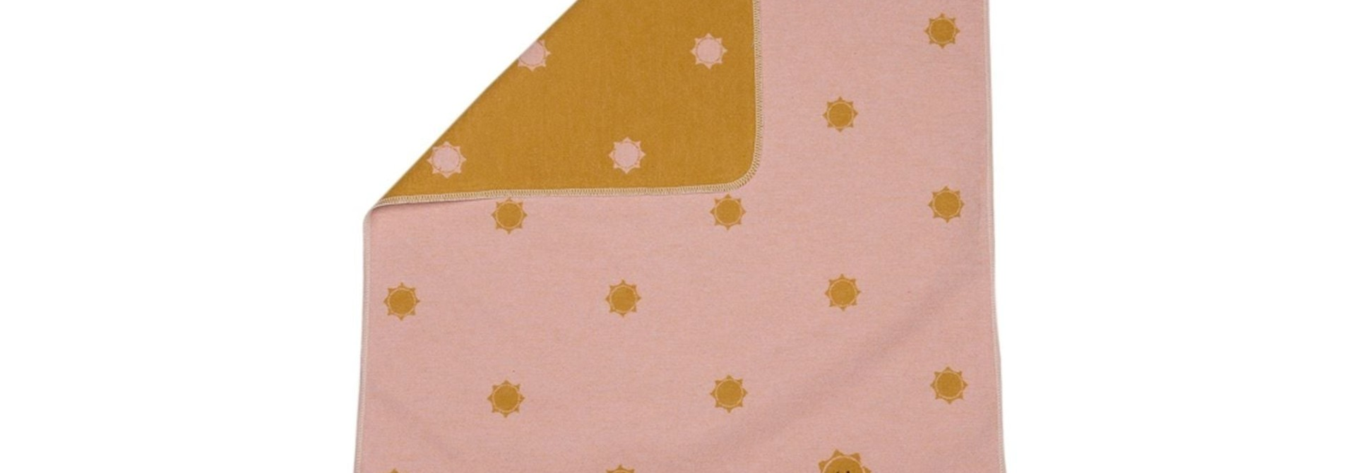 Baby Blanket - Suns - Pink