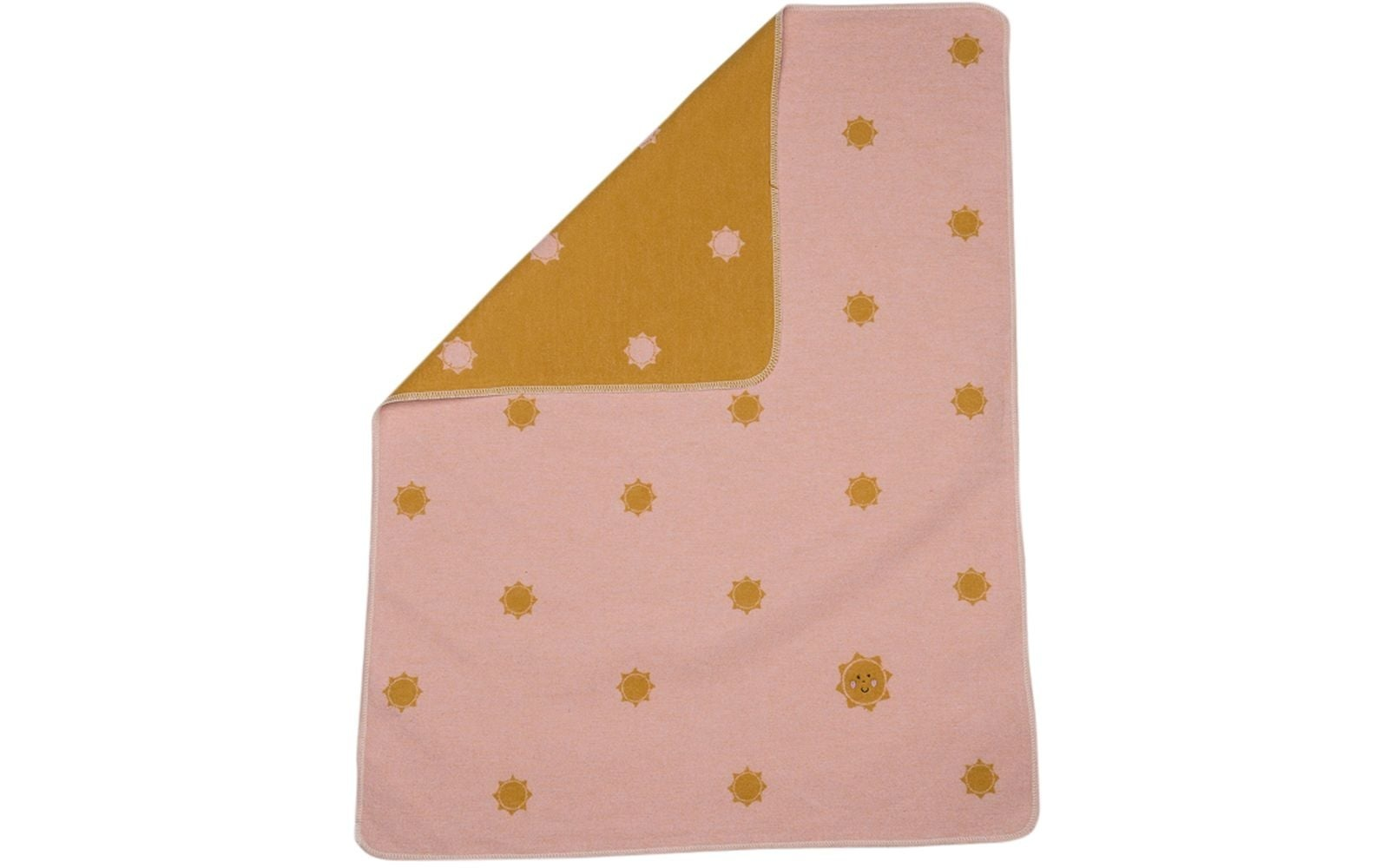 Baby Blanket - Suns - Pink-1