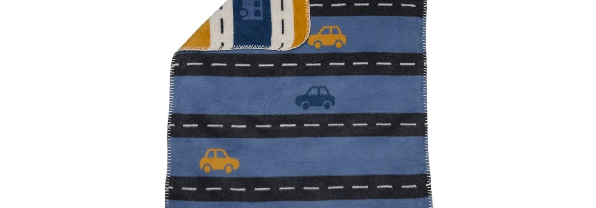 Blanket - Streets - Blue