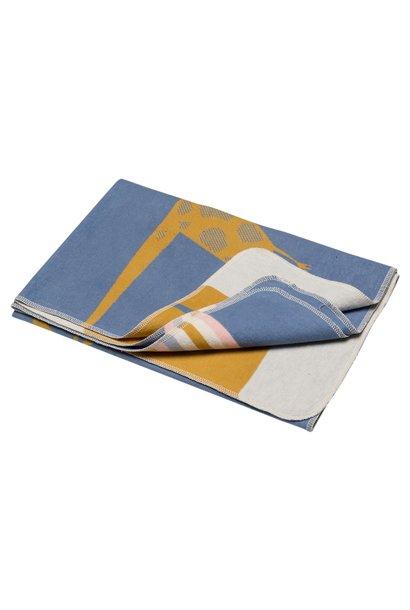 Blanket - Giraffe - Blue